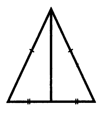 медиана равнобедренного треугольника
