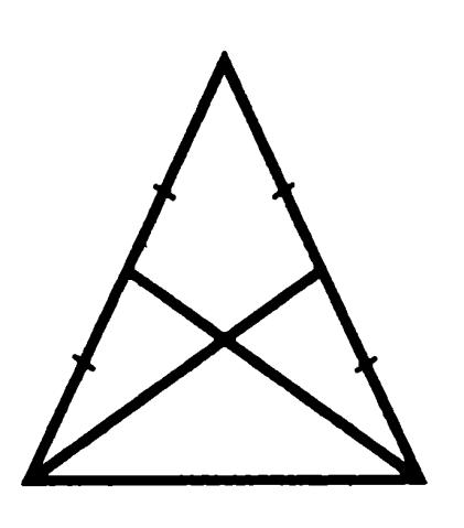 медианы, проведенные к боковым сторонам равнобедренного треугольника