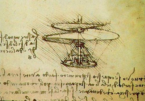 Рисунок вертолета Леонардо Да Винчи