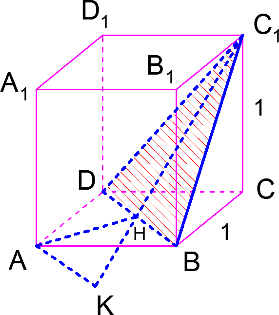 Решение задачи C2 из ЕГЭ по математике методом построений и методом объемов
