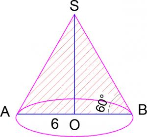 Чертеж к задаче по стереометрии с конусом