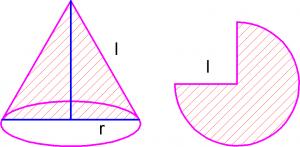 Конус и развертка его боковой поверхности стереометрия