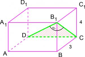 Стереометрическая задача B9 из ЕГЭ по математике