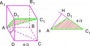 Стереометрия на ЕГЭ по математике задача C2 с параллелепипедом
