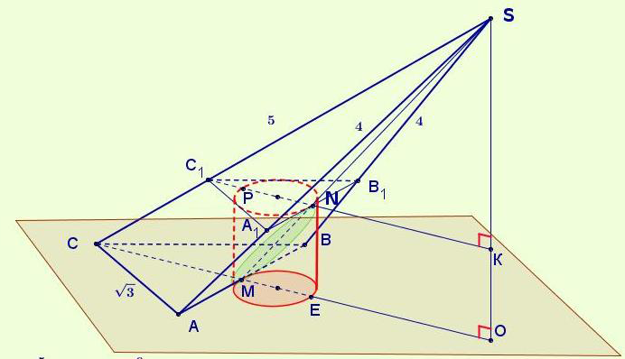 Вступительный экзамен МГУ (стереометрия) - чертеж к заданию