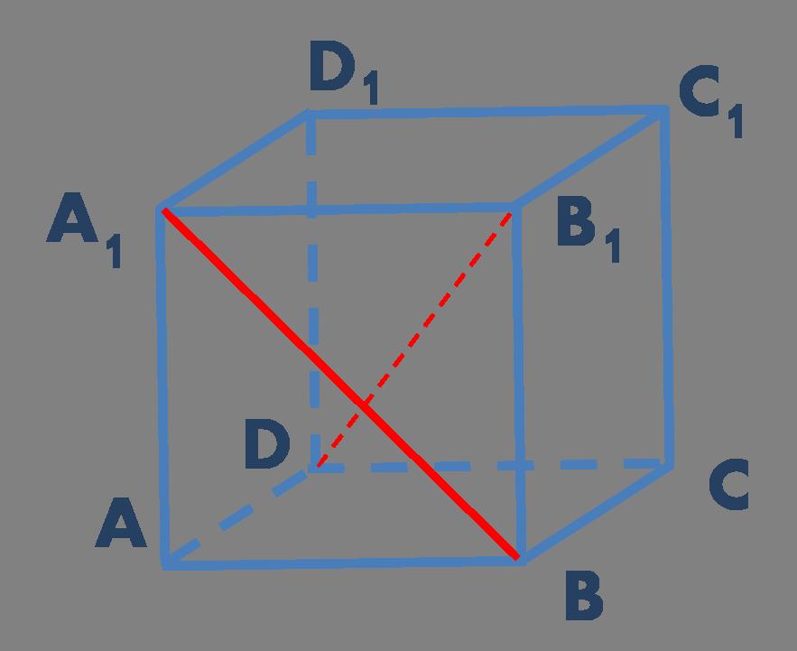 Куб со скрещивающимися прямыми