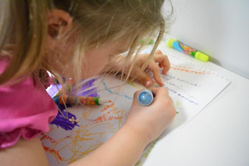 Рисование на бумаге с репетитором