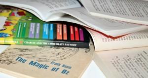 Книжки на столе репетитора по математике и физике
