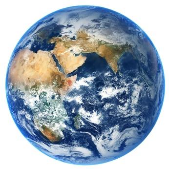 Снимок планеты Земля из космоса
