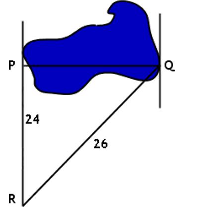 Рисунок к задаче на нахождение ширины пруда