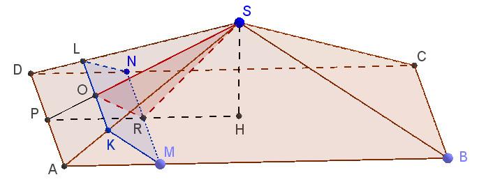 Рисунок к задаче по стереометрии из ЕГЭ по математике 2016