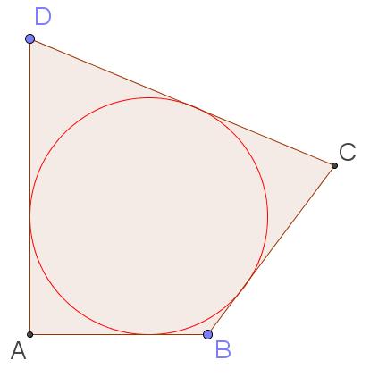 Окружность, вписанная в четырёхугольник, из задания 6 первой части ЕГЭ по математике