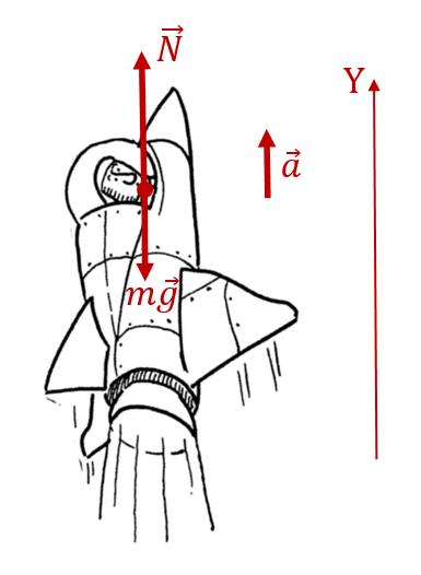 Расчёт перегрузки, испытываемой космонавтами при старте ракеты