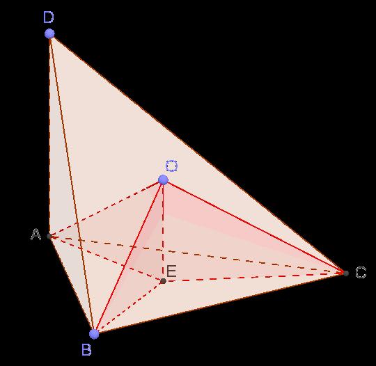 Пирамида с перпендикулярным основанию ребром