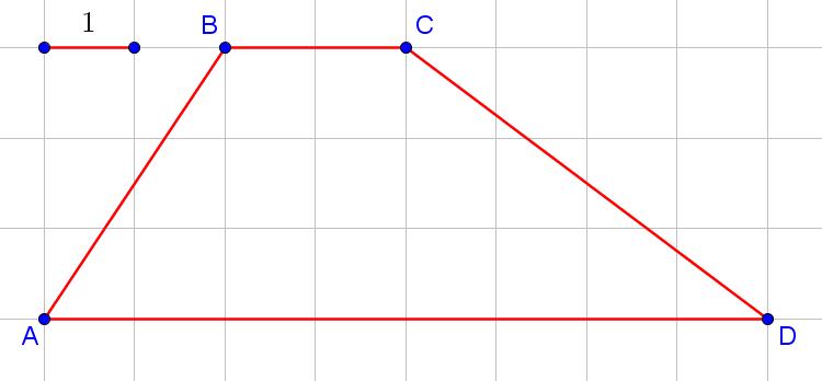 Трапеция в квадратной решётке