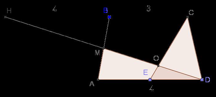 Трапеция с дополнительным построением из решения геометрической задачи из ЕГЭ