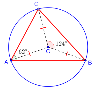 Градусная мера вписанного и центрального углов, опирающихся на одну дугу