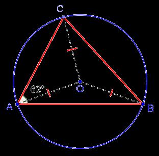 Рисунок к задаче с окружностью из задания 6 ЕГЭ по математике