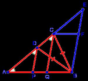 Дополнительное построение к геометрической задаче из устного вступительного экзамена по математике в гимназию 1543