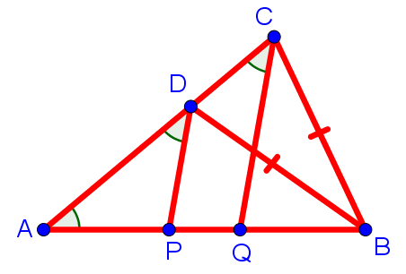Рисунок к задаче по геометрии из письменного вступительного экзамена в 8 класс Московской гимназии на Юго-Западе №1543
