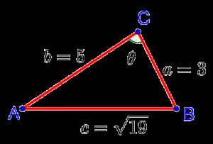 Как найти углы треугольника, если известны его стороны