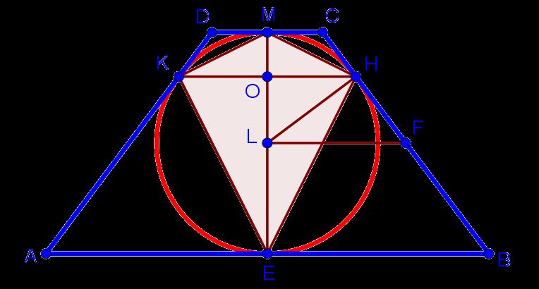 Рисунок к геометрической задаче из комплексного теста по математике в лицей ВШЭ