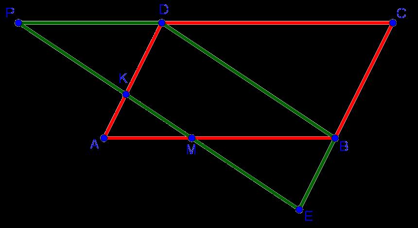 Рисунок к задаче по геометрии из вступительного экзамена по математике в школу 109