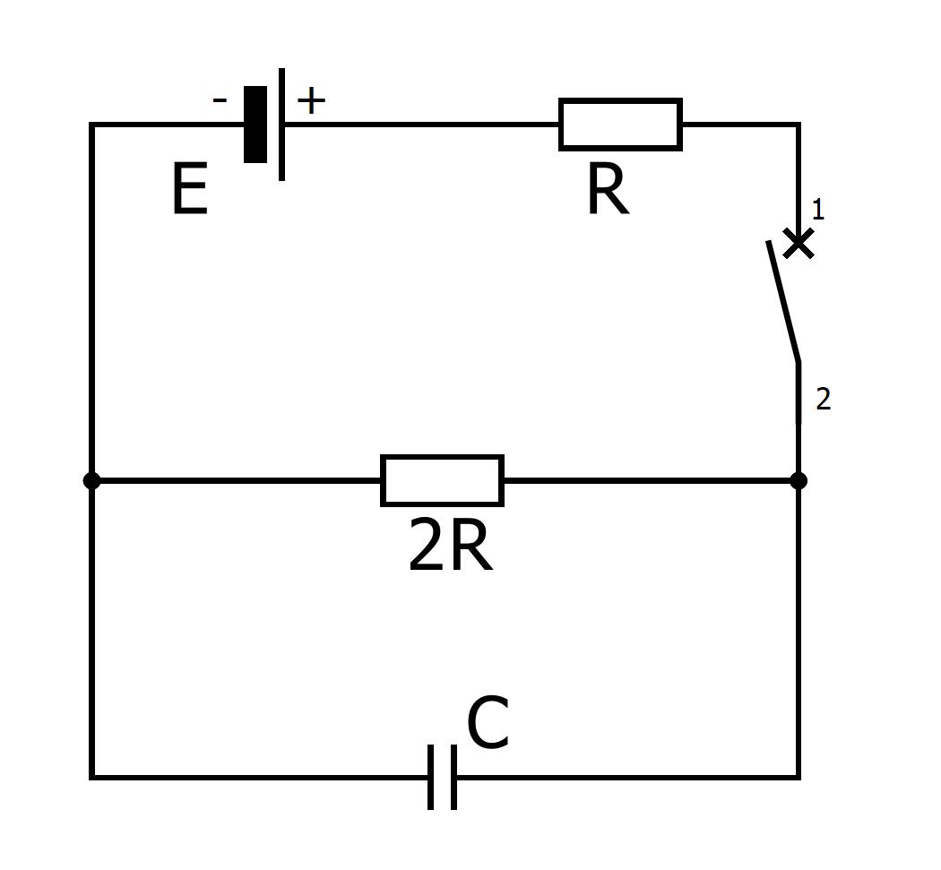 Электрическая схема из задачи №3 вступительного экзамена по физике в МФТИ