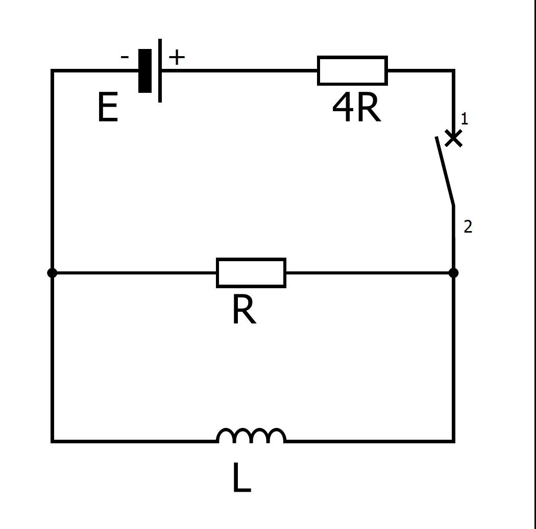 Электрическая схема из примера вступительного экзамена по физике в МФТИ
