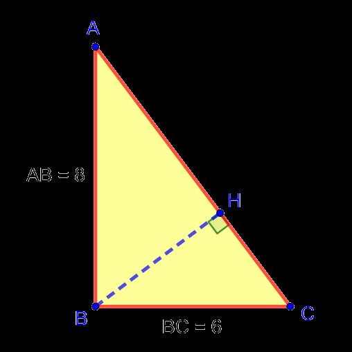 Прямоугольный треугольник с высотой, проведённой к гипотенузе