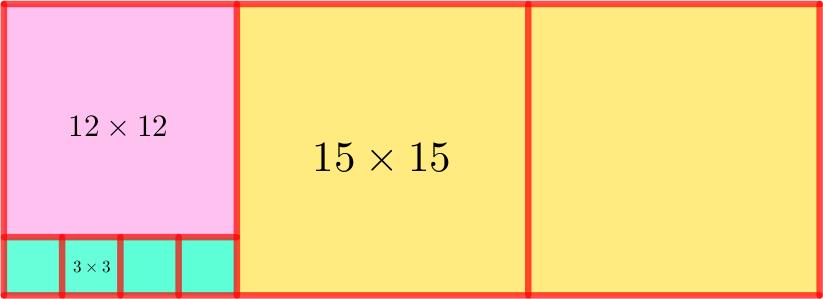 Прямоугольник, разделённый на квадраты, из задачи вступительного экзамена по математике в 5 класс школы 1329