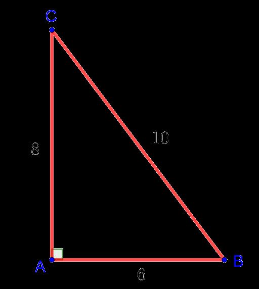 Египетский треугольник из задачи по геометрии из вступительного экзамена в 10 класс лицея НИУ ВЩЭ
