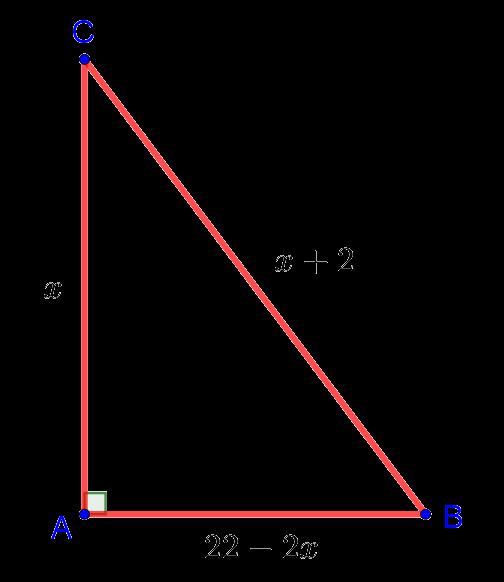 Прямоугольный треугольник с периметром 24 из геометрической задачи части 1 комплексного теста по математике в лицей НИУ ВШЭ
