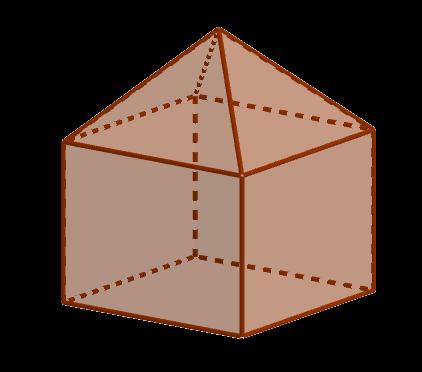 К правильной четырёхугольной пирамиде приклеили прямоугольный параллелепипед так, что их основания совпали
