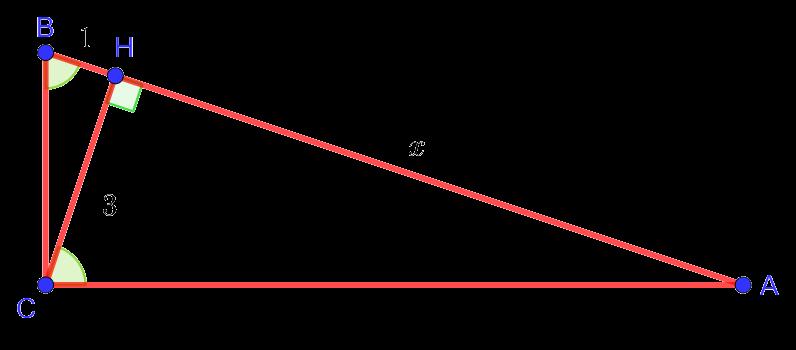 Рисунок к геометрической задаче из первой части теста по математике для дополнительного набора в лицей НИУ ВШЭ