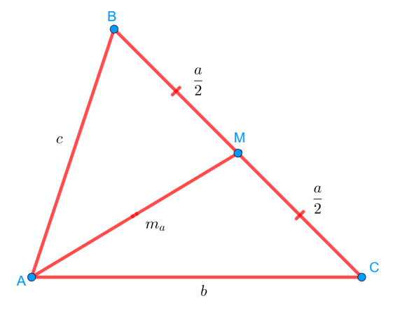 Медиана AM в треугольнике ABC