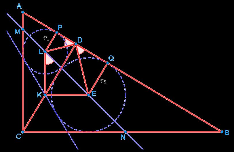 Доказательство подобия треугольников LDE и ABC