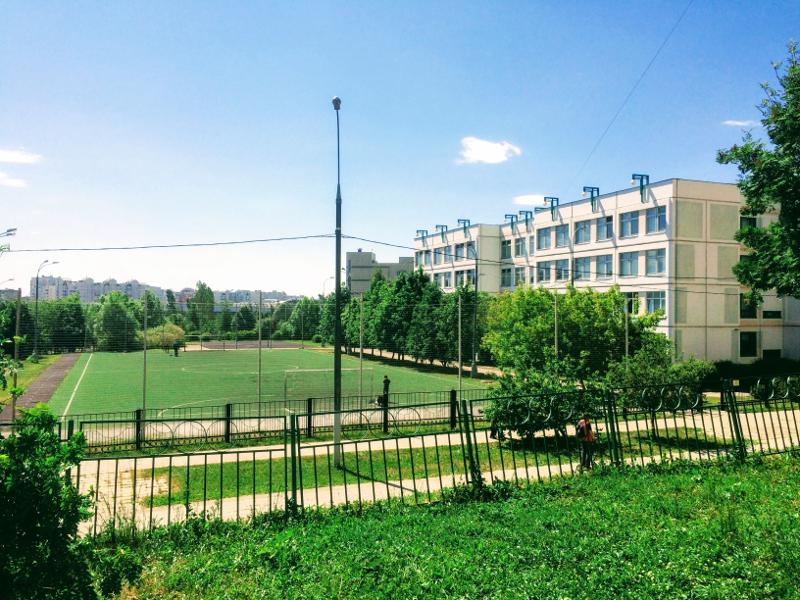 Футбольное поле школы 2007 в Москве (Южное Бутово)